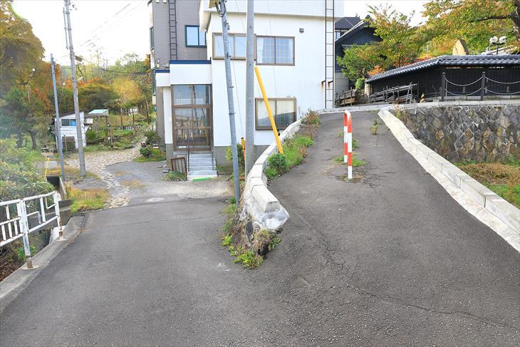 小樽貴賓館(旧青山別邸)近くの道