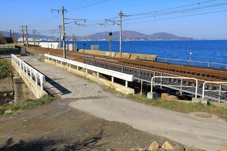 朝里川と小樽の海