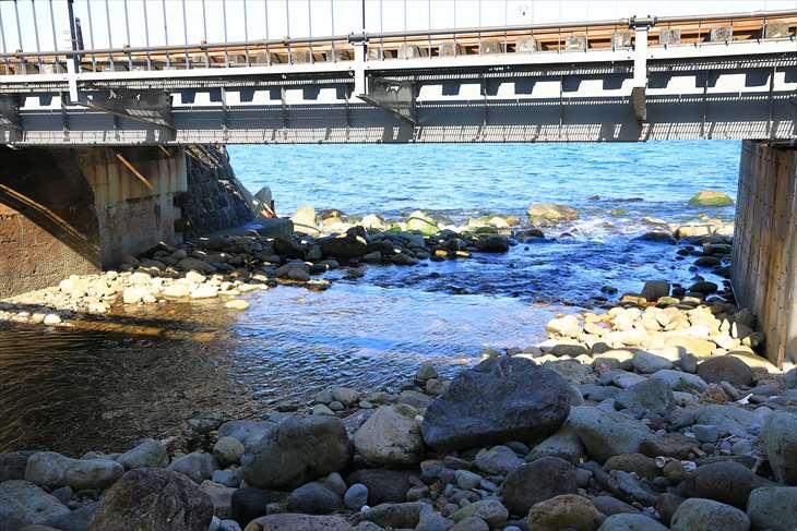 朝里川河口