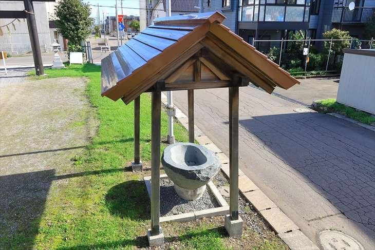 朝里神社の手水舎