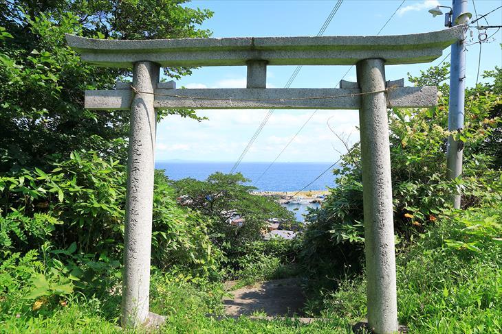 恵美須神社の境内からの眺め