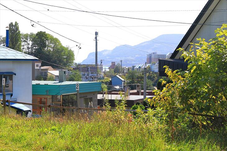小樽伏見稲荷神社の前からの風景