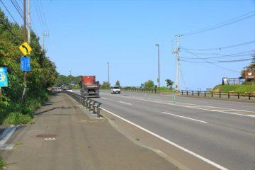 張碓稲荷神社前の国道5号線