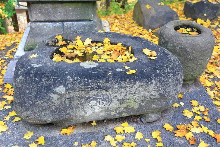熊碓神社 手水鉢