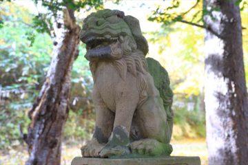 熊碓神社 狛犬