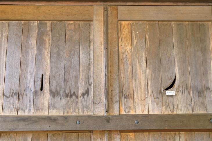 熊碓神社 社殿の戸