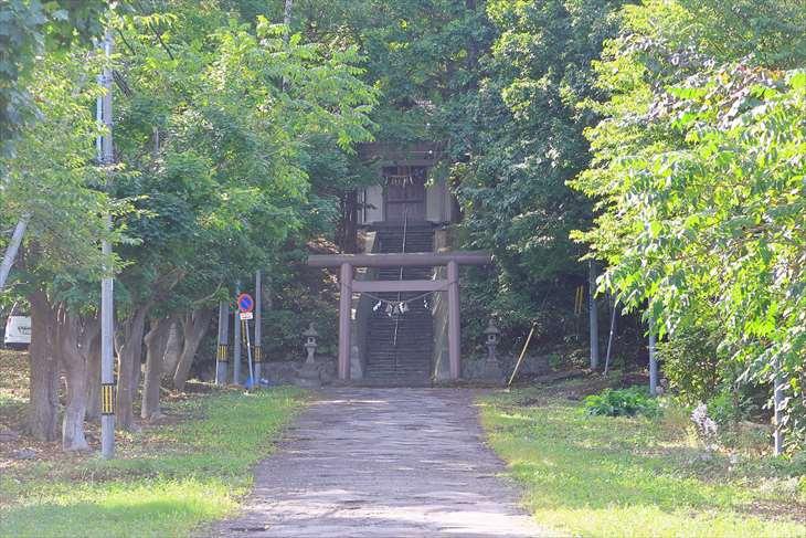 熊碓神社の鳥居