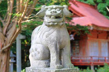 忍路神社 狛犬