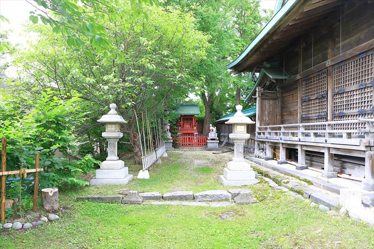 小樽水天宮の稲荷神社