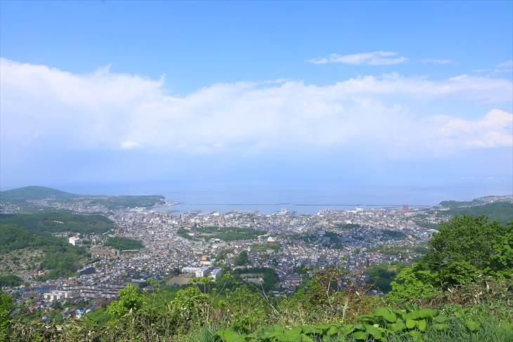 小樽天狗山山頂駅からの眺め