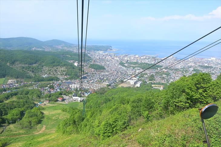 小樽天狗山ロープウェイからの眺め