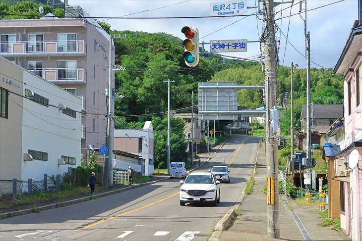 小樽天満宮近くの交差点