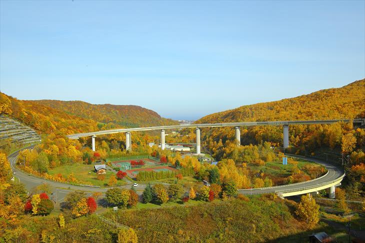 朝里のループ橋