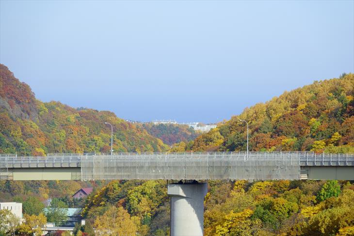 朝里ダムからの風景