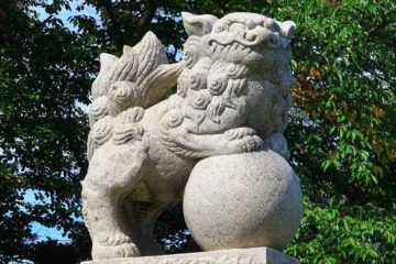 小樽 水天宮の狛犬様