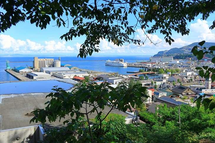 小樽 水天宮からの風景