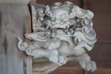 蘭島神社の阿吽の唐獅子