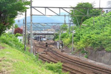 龍宮神社から見た小樽駅
