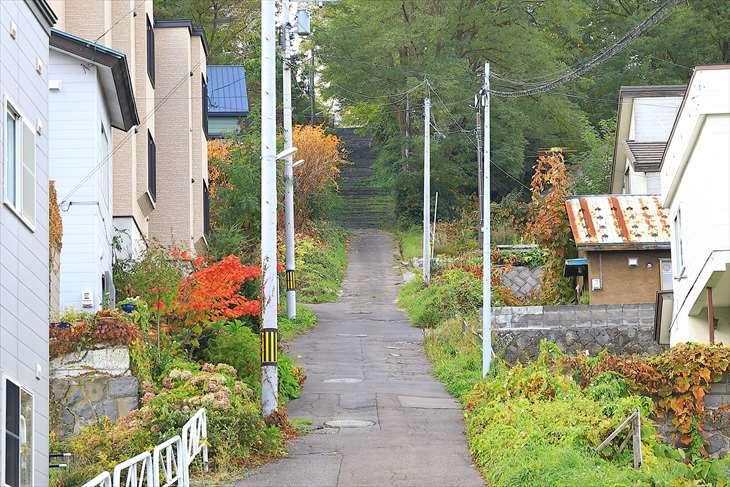 小樽水天宮への階段