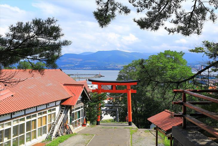高島稲荷神社から見た風景