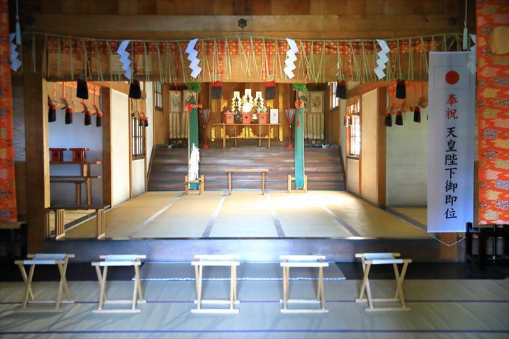小樽天満宮 拝殿の中